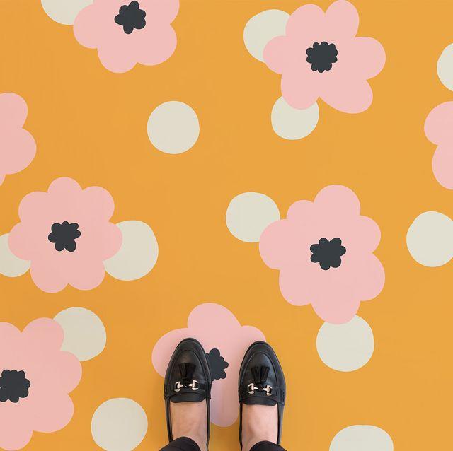 suelo de vinilo floral