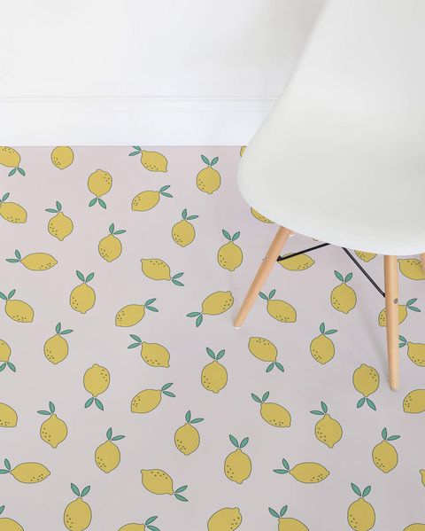 suelo de vinilo con limones
