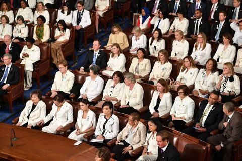 state of the union, white, suffragette, congress