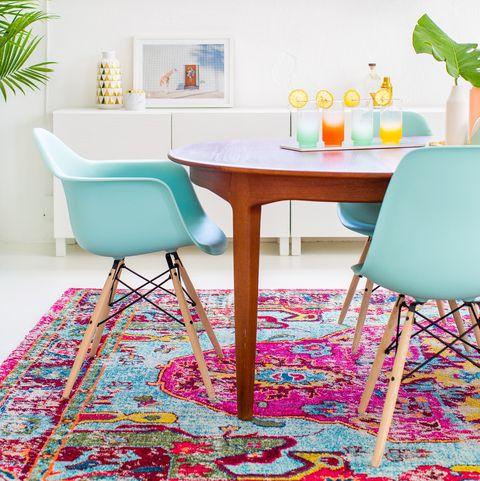 C mo decorar con alfombras en verano tambi n de exterior - Alfombras comedor amazon ...