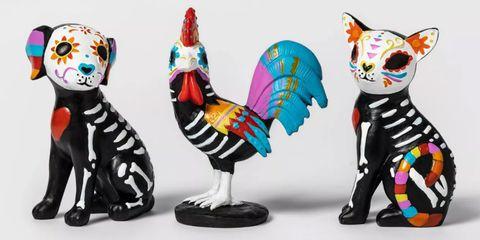 Toy, Animal figure, Figurine, Cat, Boston terrier, Ceramic, Sculpture, Canidae, Art, Non-Sporting Group,