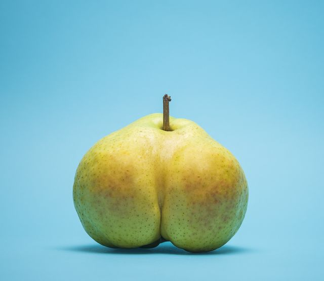 suggestively shaped pear