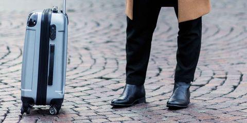 Footwear, Leg, Product, Shoe, Standing, Human leg, Street fashion, Suitcase, Baggage, Boot,
