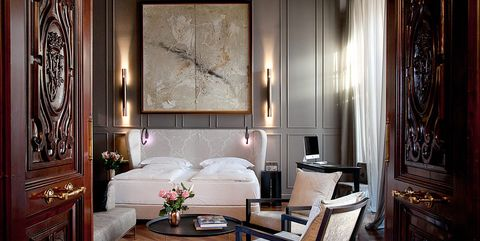 Suite del hotel Palacio Villapanés en Sevilla