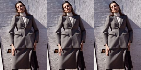 Clothing, Coat, Overcoat, Suit, Outerwear, Formal wear, Trench coat, Fashion, Frock coat, Collar,