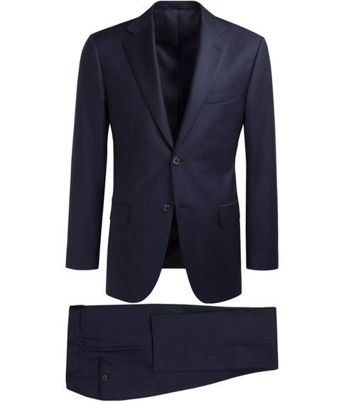 Clothing, Suit, Outerwear, Formal wear, Blazer, Button, Tuxedo, Jacket, Sleeve, Collar,