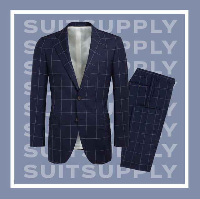 Clothing, Suit, Outerwear, Blazer, Formal wear, Jacket, Pattern, Sleeve, Design, Collar,