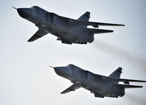 Nearly a Dozen Russian Jets Practiced an Attack on a