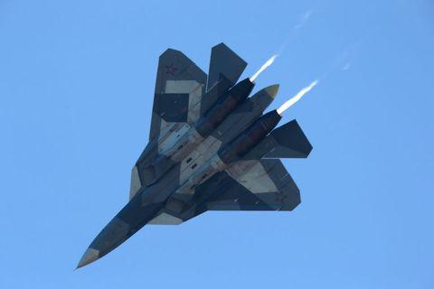 ロシアの「Su-57」といったステルス戦闘機Russia's Sukhoi Su-57 fighter