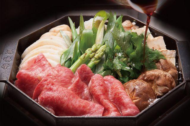 三嶋亭のすき焼き