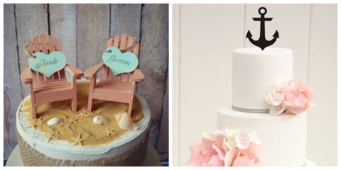 summer wedding cake toppers