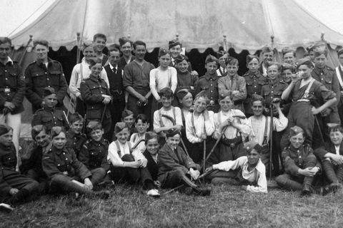Camp for the American Boys Brigade.