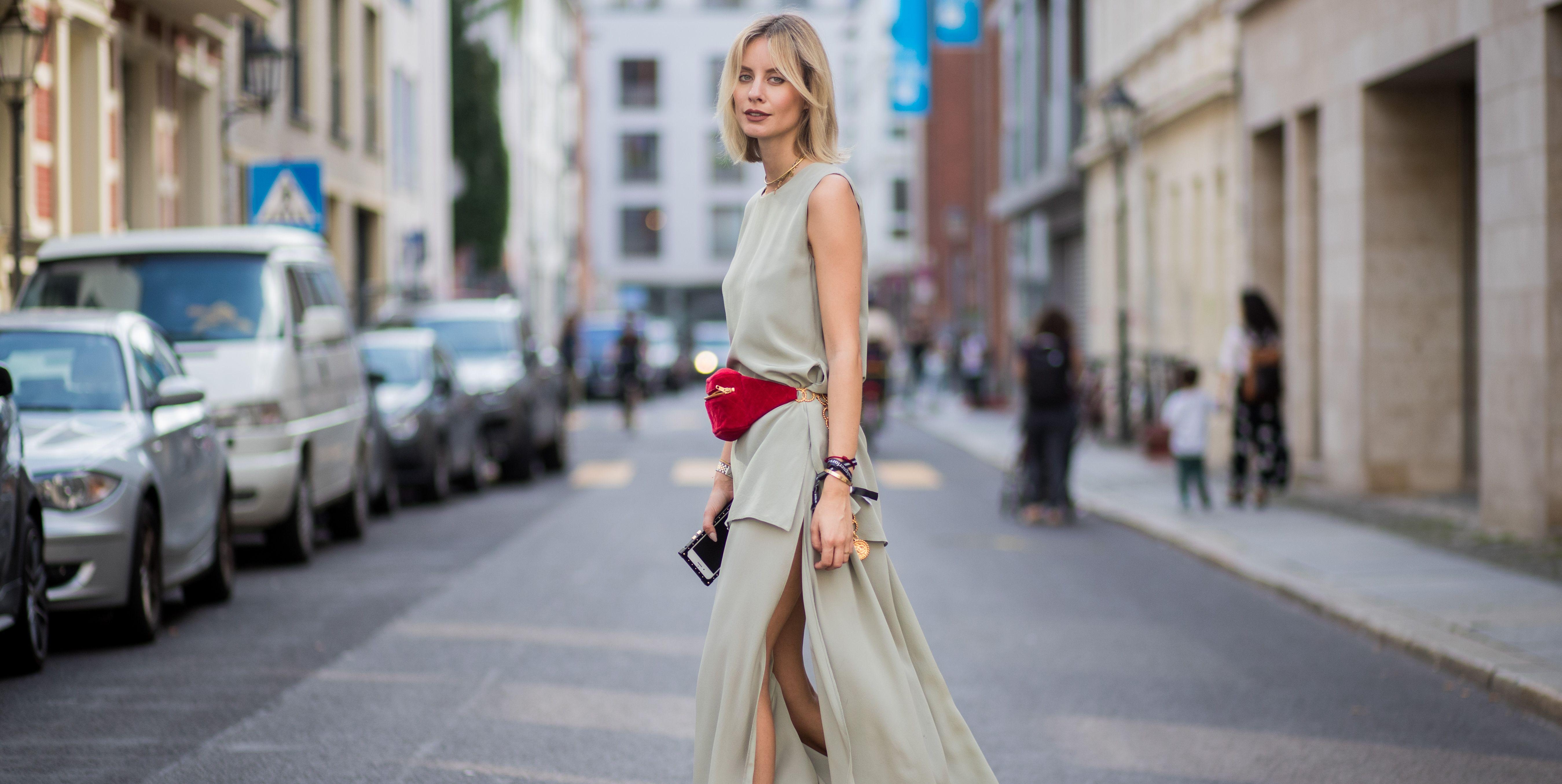 summer city dressing: woman in summer dress