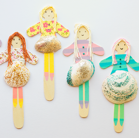shell people summer crafts for kids