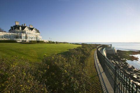 summer mansion on the cliff walk, cliffside mansions of newport rhode island
