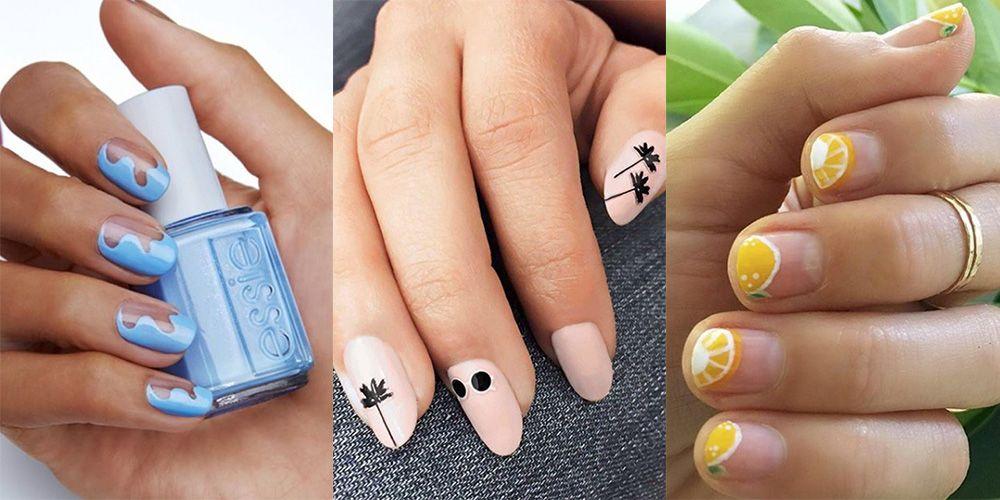 25 cute summer nail designs for 2018 best summer - Cute nail polish designs to do at home ...