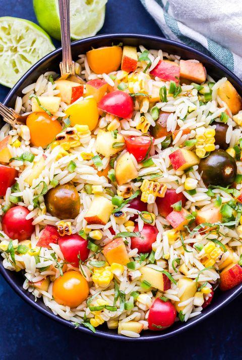 summer pasta salad vegetable