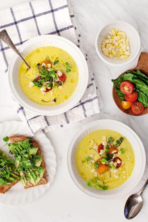summer soups sweet corn