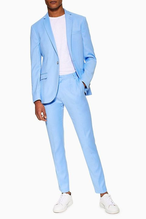 899ba78e14b9 What Shoes To Wear With A Blue Linen Suit - Style Guru  Fashion ...