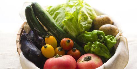 summer vegetables in basket