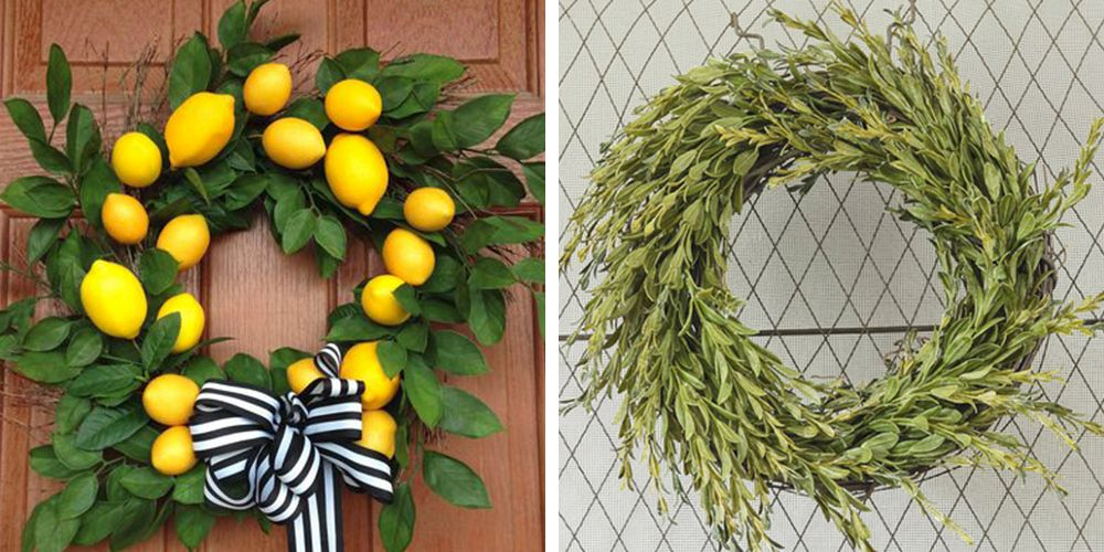 22 Summer Wreaths You Can DIY for a Fresh Front Door & 22 DIY Summer Wreaths - Outdoor Door Wreath Ideas for Summer
