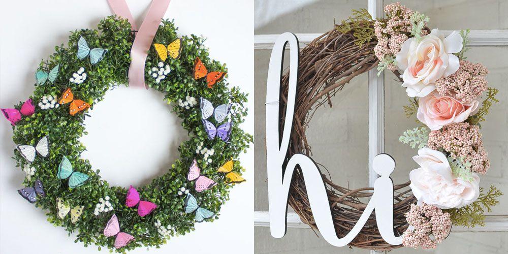 20 Diy Summer Wreaths Best Outdoor Door Wreath Ideas For Summer
