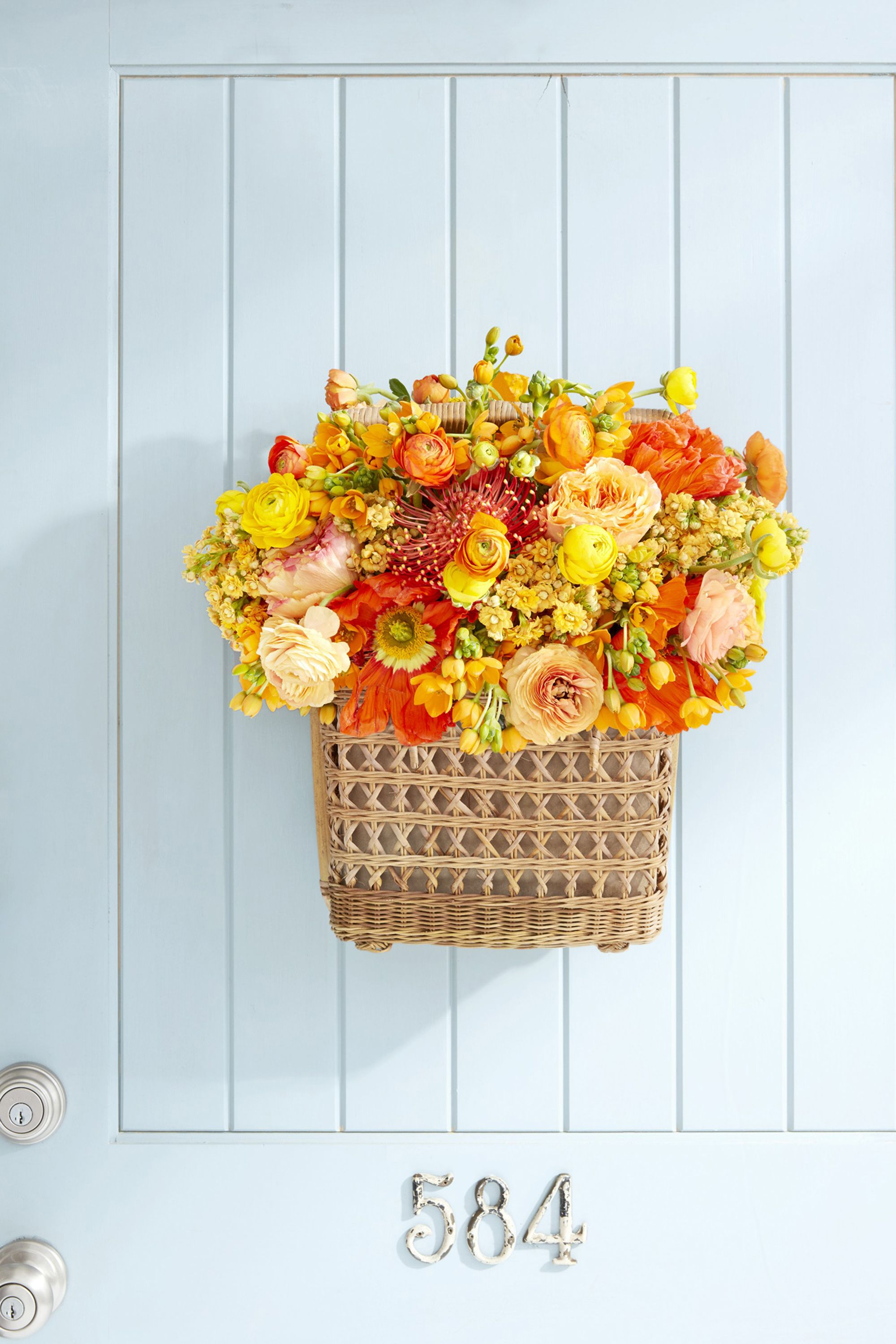 summer wreaths basket