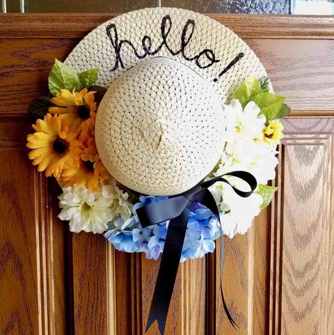 dollar tree sun hat wreath