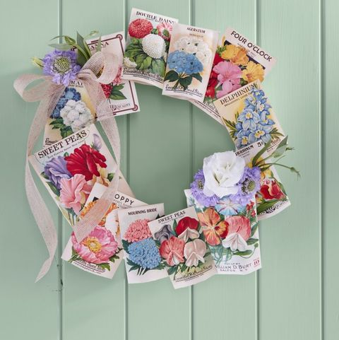 seed packet wreath