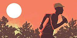 summer running illustration