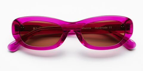 sun buddies miuccia magenta £125, women's sunglasses, bold sunglasses