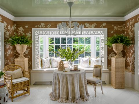 sun porch 1 decorated by shelley johnstone design for the 2020 lake forest showhouse