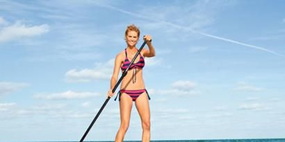 Body of water, Human, Fun, Shoulder, Water, Standing, Joint, Summer, Leisure, Surfing Equipment,