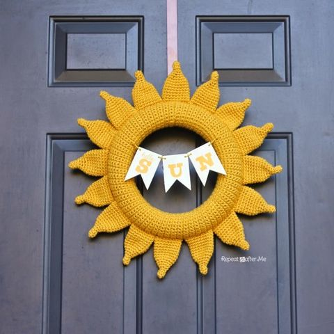 Sun Wreath - Summer Wreaths