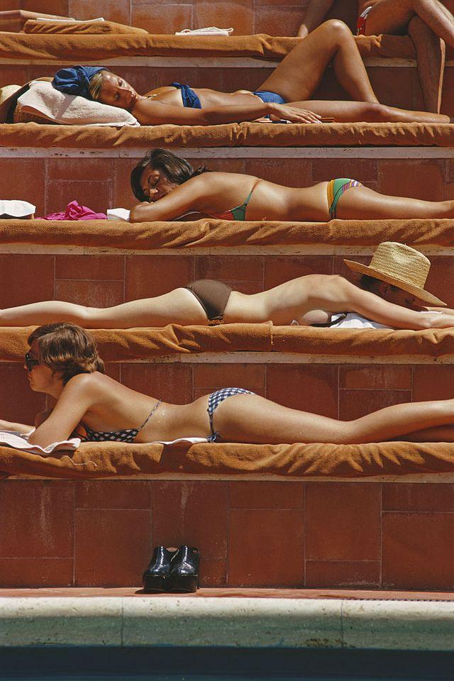 sunbathing in capri