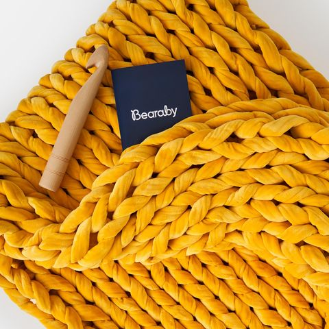Bearby X West Elm Launch Chunky Knit Weighted Blankets In