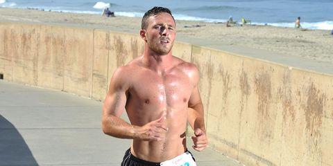a sunburned runner