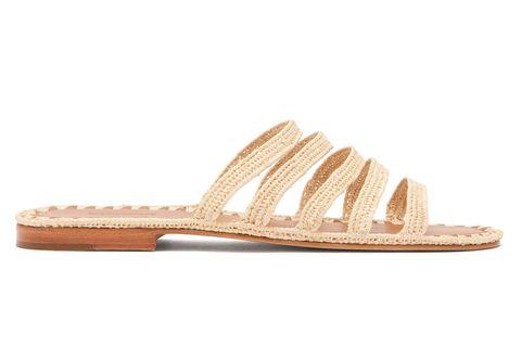 Carrie Forbes raffia flat sandal