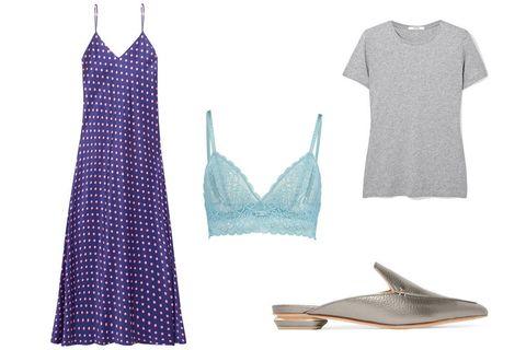 Clothing, Blue, Dress, Design, Pattern, Footwear, Pattern, Nightwear, camisoles, Shoe,