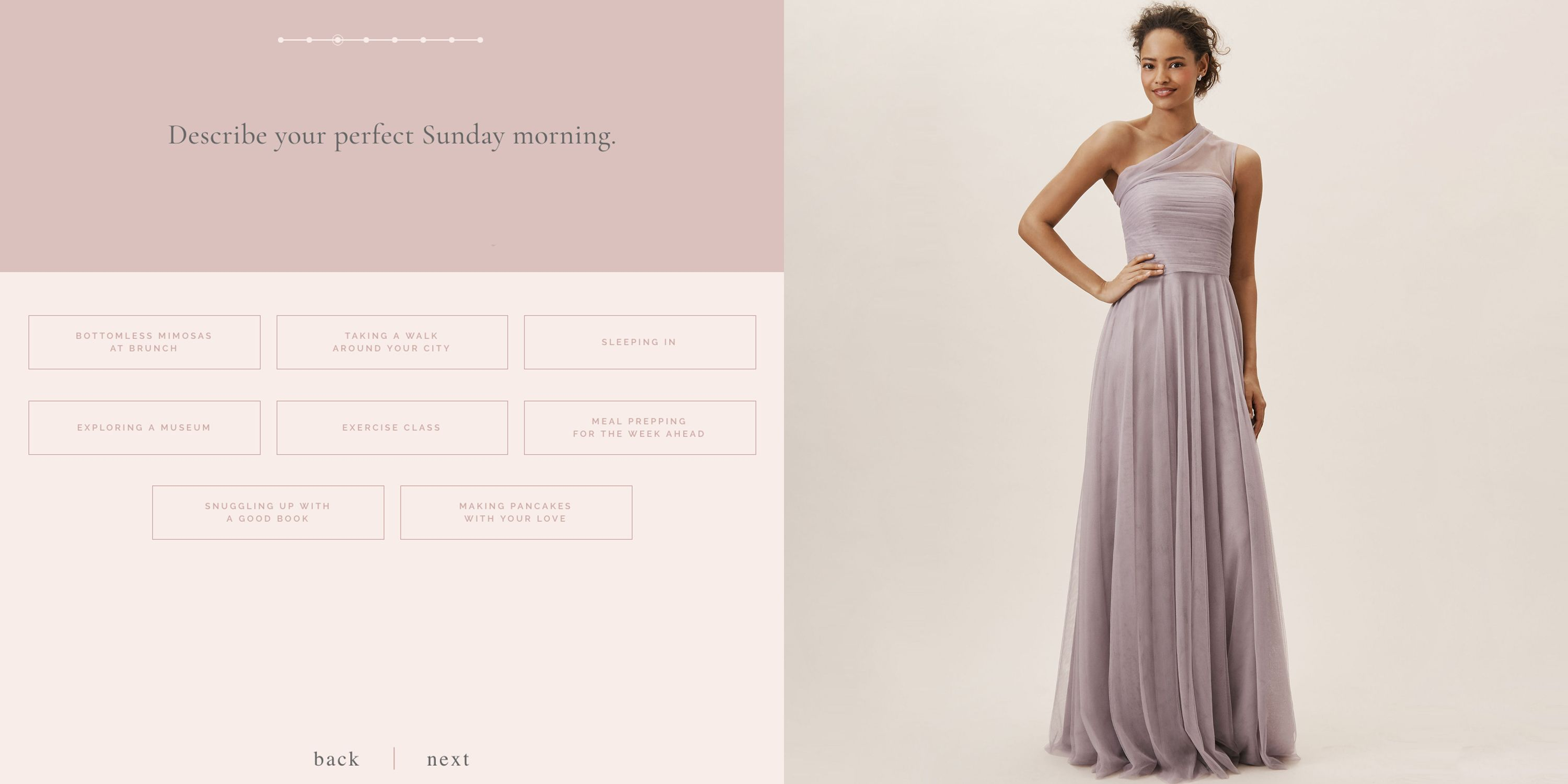 How To Choose Your Bridesmaids Dress Color Bhldn Wedding Color Quiz