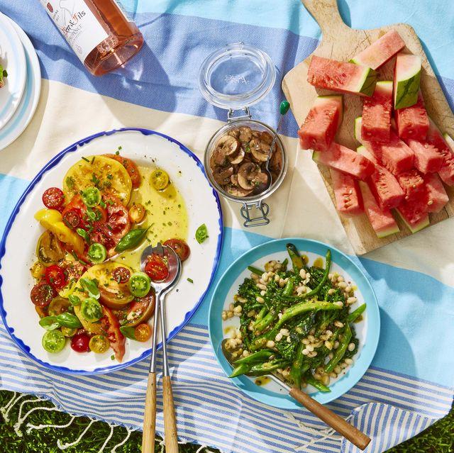 white bean and broccolini salad