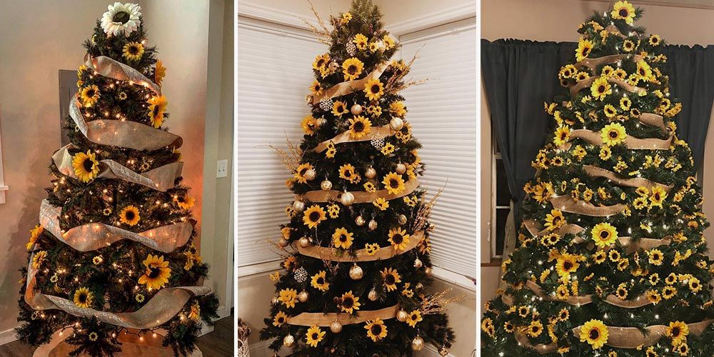 The Sunflower Christmas Tree Trend Brings New Life Into the Holidays