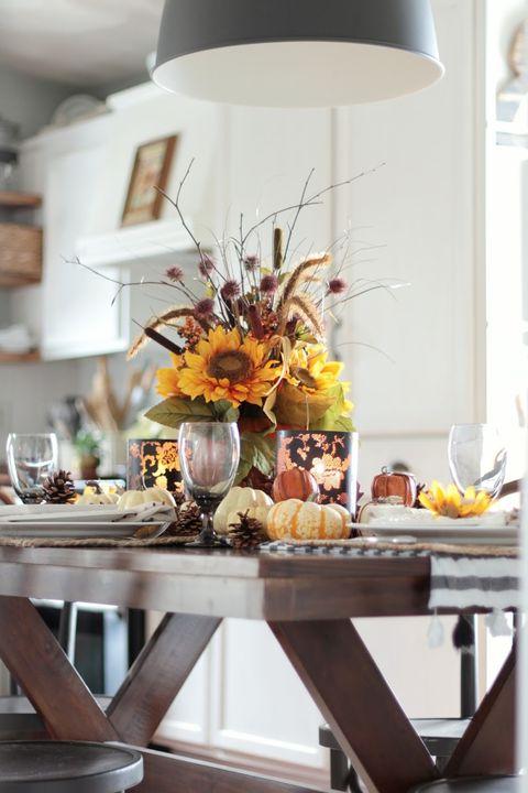 sunflower thanksgiving centerpieces