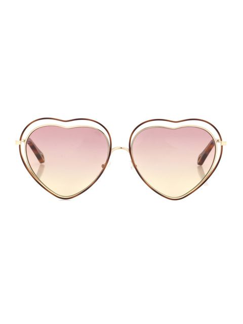 Eyewear, Sunglasses, Glasses, Pink, Heart, aviator sunglass, Vision care, Fashion accessory, Peach, Jewellery,
