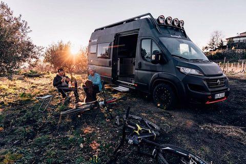 Transport, Vehicle, Car, Mode of transport, RV, Commercial vehicle, Tree, Van, Automotive wheel system, Automotive tire,