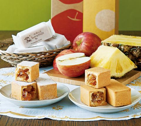 サニーヒルズ パイナップル&りんごケーキセット