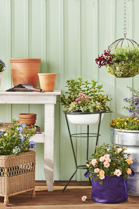 sunroom potting station