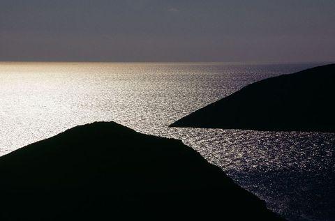 Sunset along the Greek coastline