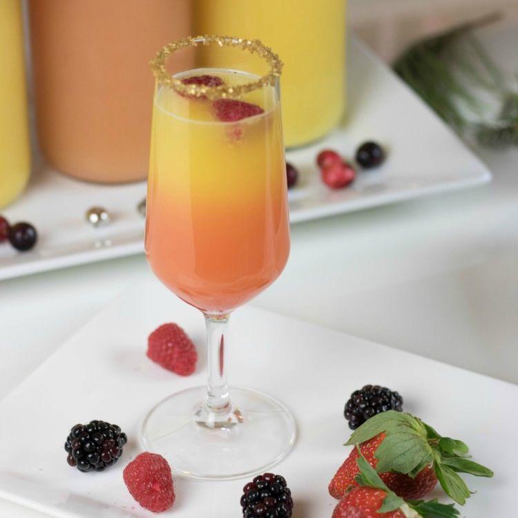 best mimosa recipes - sunset mimosa