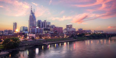 Sunset over Nashville